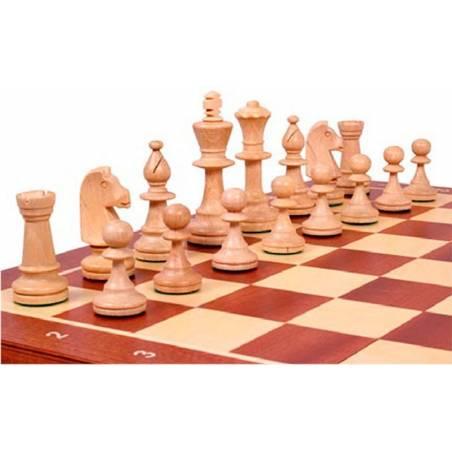 Conjunto ajedrez caoba magnetico 48 o 54 cm.
