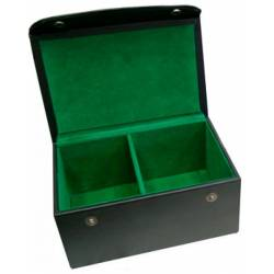 Leather box with green lining