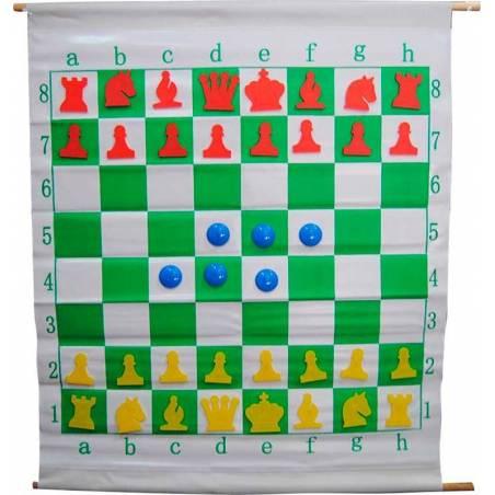 Mural enrotllable magnètic superior escacs