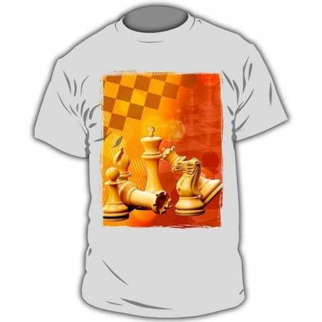 T-shirt with chess designs chess model 7