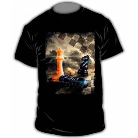 Camisetas con diseño ajedrez modelo 8
