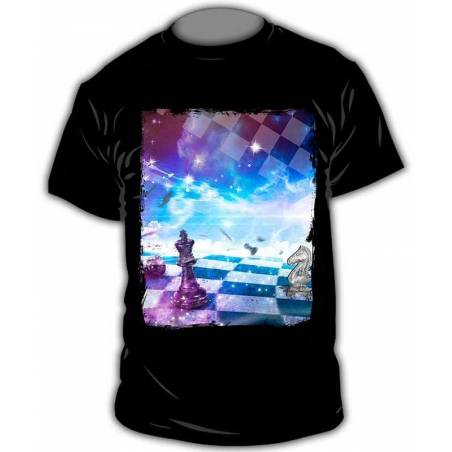 T-shirt with chess designs chess model 10