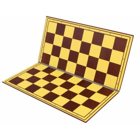 50cm chess board plastic folding hardtop yellow