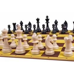 Tablero plástico ajedrez  plegable 50cm. amarillo