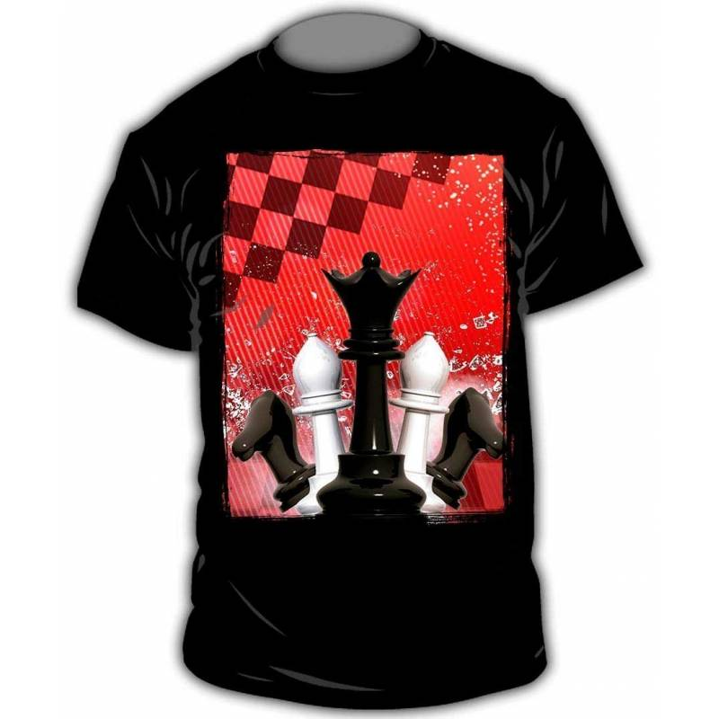 T-shirt with chess designs model 13