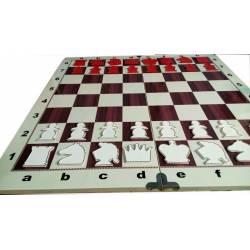 Tablero mural ajedrez marqueteria 80x80 cm