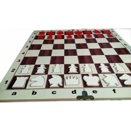 80x80 cm mural chess board marquetry