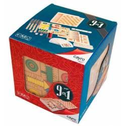 Cubo 9 juegos en 1 ajedrez parchis Cayro 8422878909551