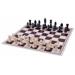 Folding chess board + Morris