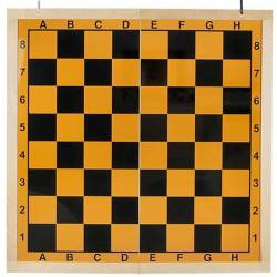 Chess Folding Mural on 2 yellow background