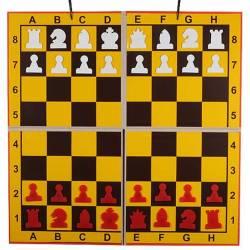 Mural plegable en 4 partes amarillo