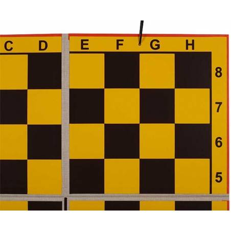 Chess Wallboard into 4 pieces yellow background