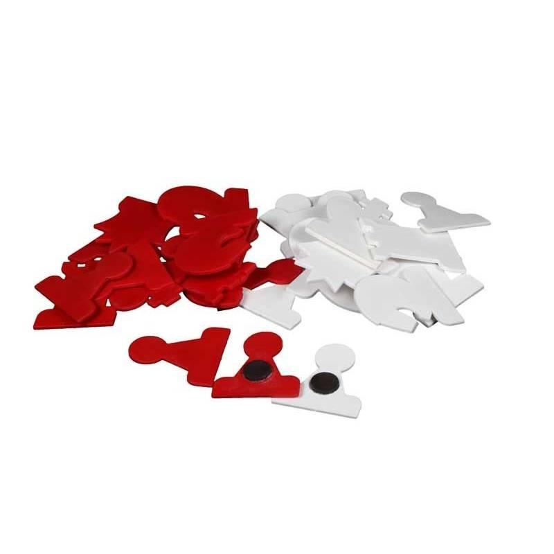 Piezas de plástico mural ajedrez recambio