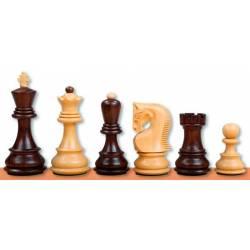 Piezas ajedrez madera Zagreb Acacia y Ebonizada