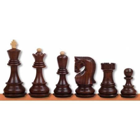 Peces escacs fusta Zagreb Acacia i Ebonitzat