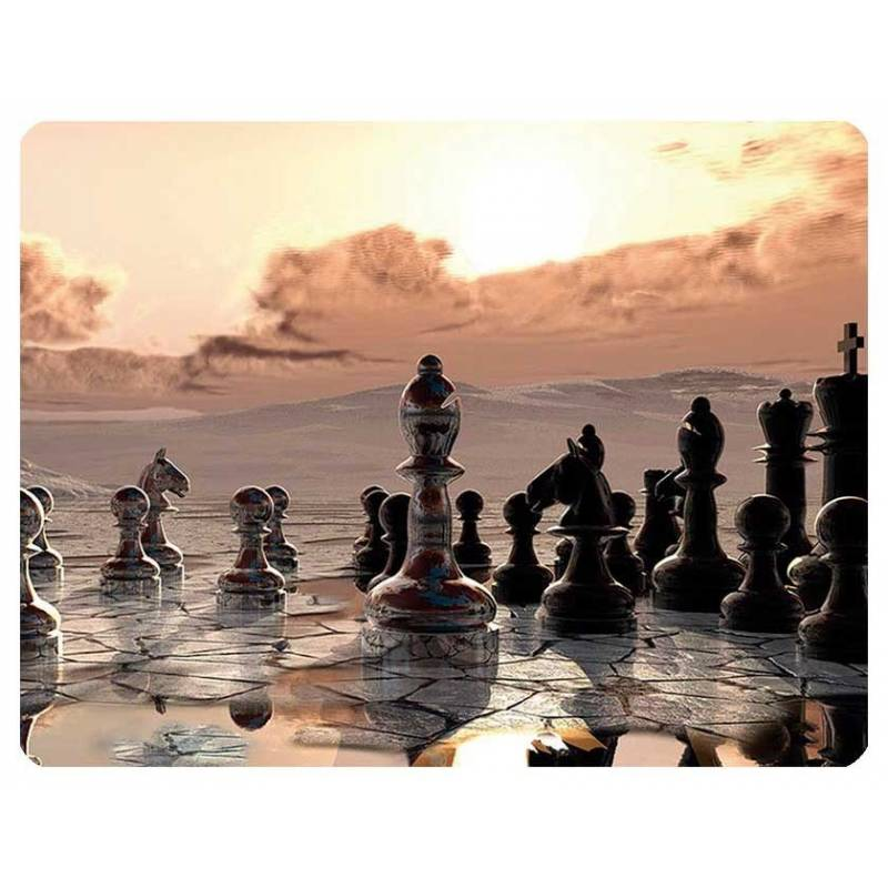 Mousepad with designs of chess model 4