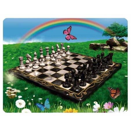 Mousepad with designs of chess model 5