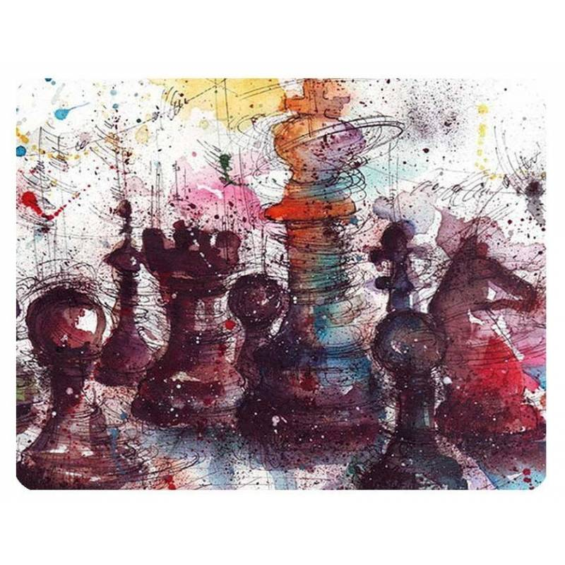 Mousepad with designs of chess model 7