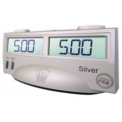 Chess digital clock Silver