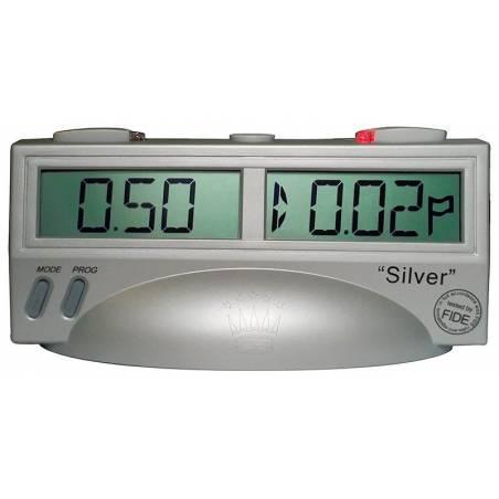 Rellotge digital escacs Silver