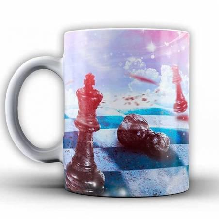 Tasses amb dissenys d'escacs model 1
