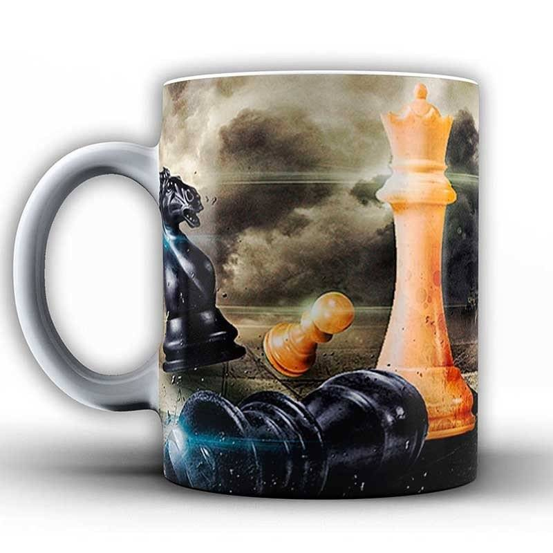 Cups with chess designs model 2