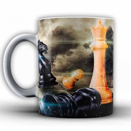 Tazas con diseños de ajedrez modelo 2