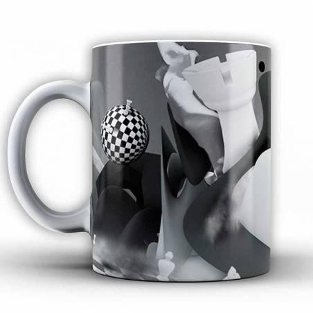 Tasses amb dissenys d'escacs model 8