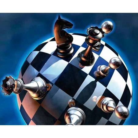 Mousepad with designs of chess model 11