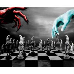 Mousepad with designs of chess model 12