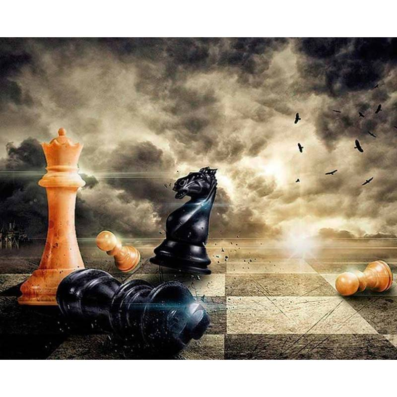 Mousepad with designs of chess model 16