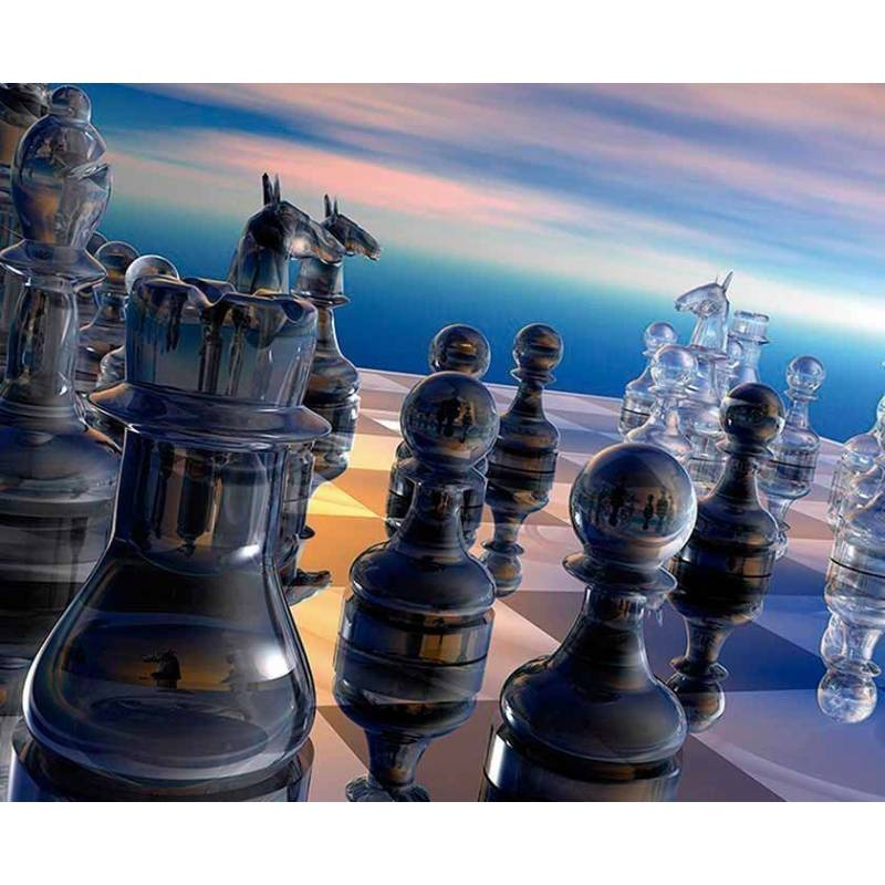Mousepad with designs of chess model 17