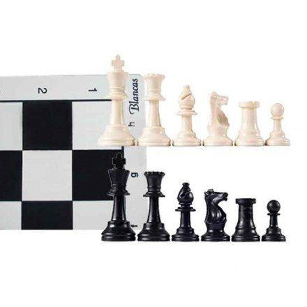Board and pieces for schools 97mm