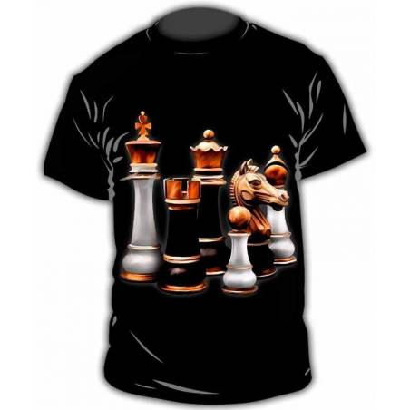 Camiseta con diseños de ajedrez modelo 18