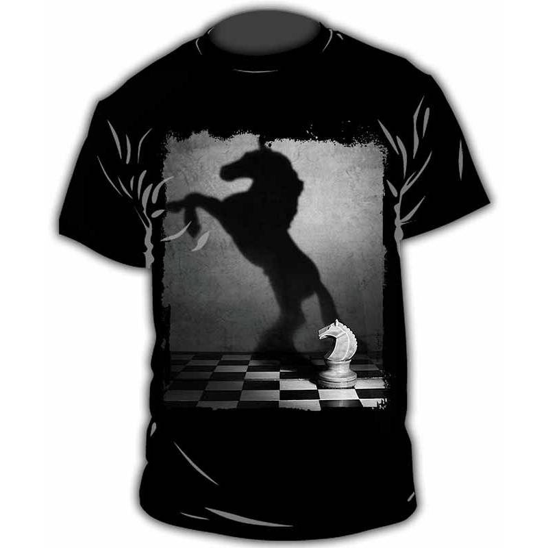 Camiseta con diseños de ajedrez modelo 19