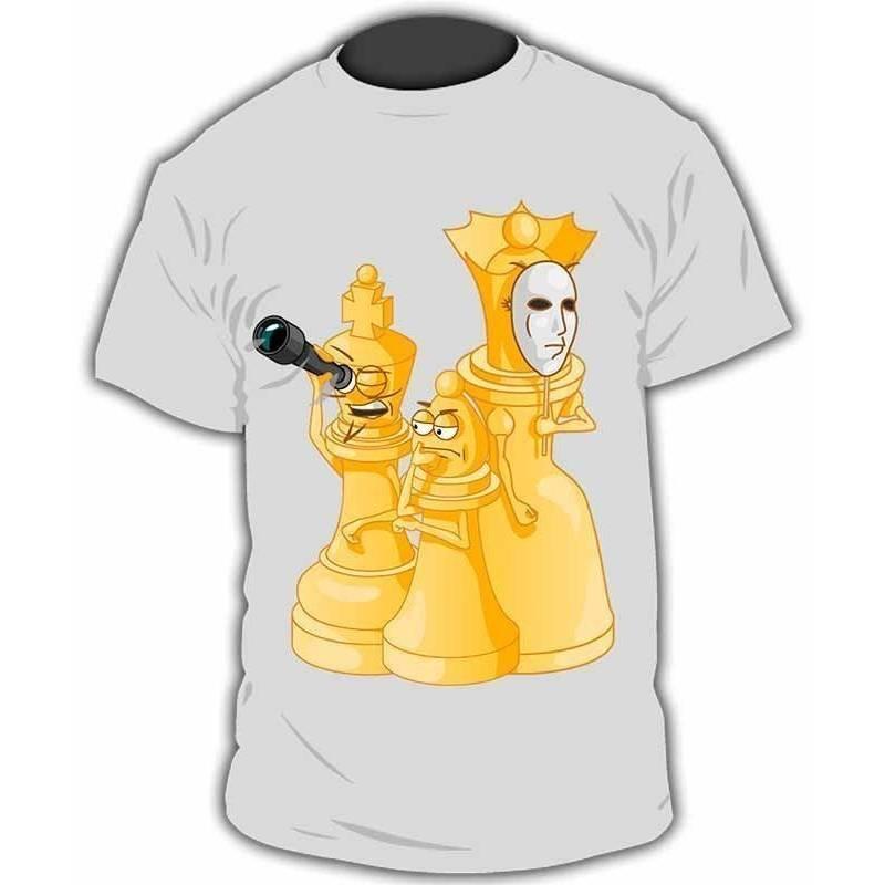 Camiseta con diseños ajedrez modelo 20