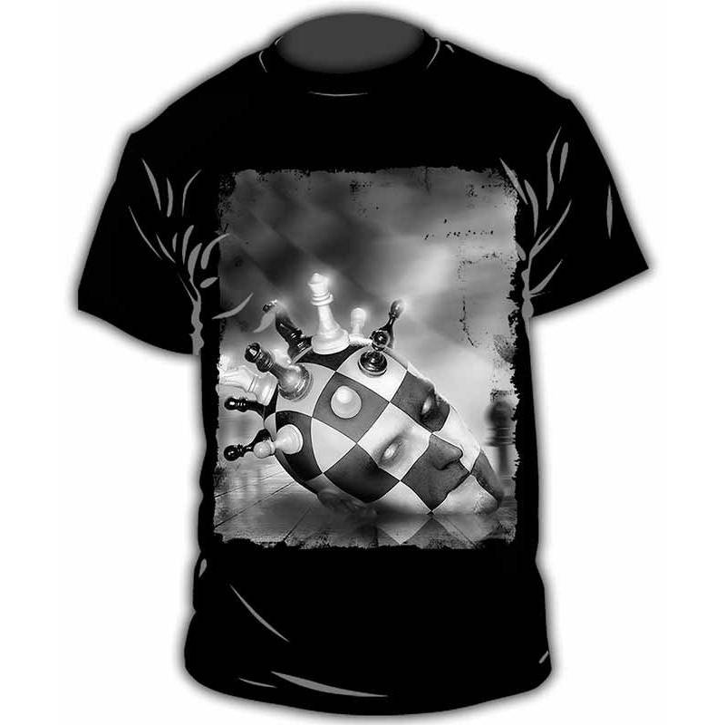 Chess design T-shirt model 21