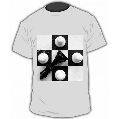 Chess design T-shirt model 22