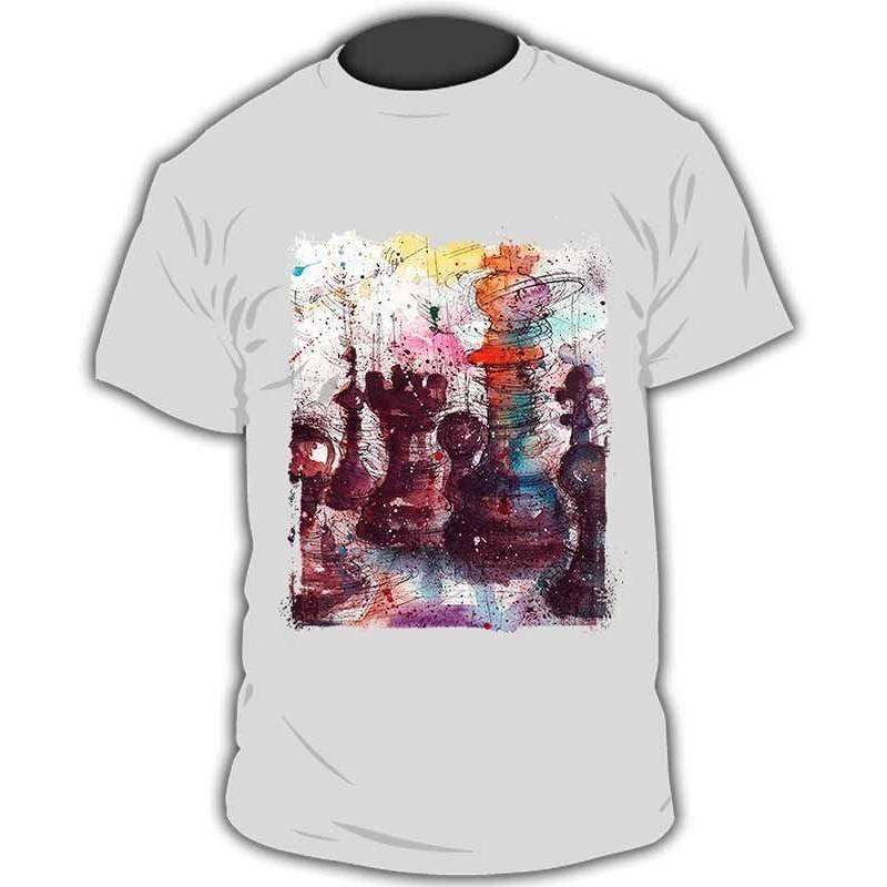 Camiseta con diseños ajedrez modelo 24