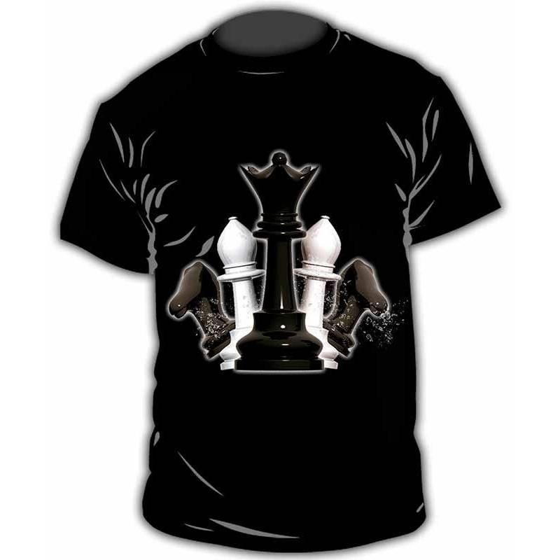 Camiseta con diseño ajedrez modelo 25