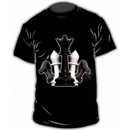 Chess design T-shirt model 25