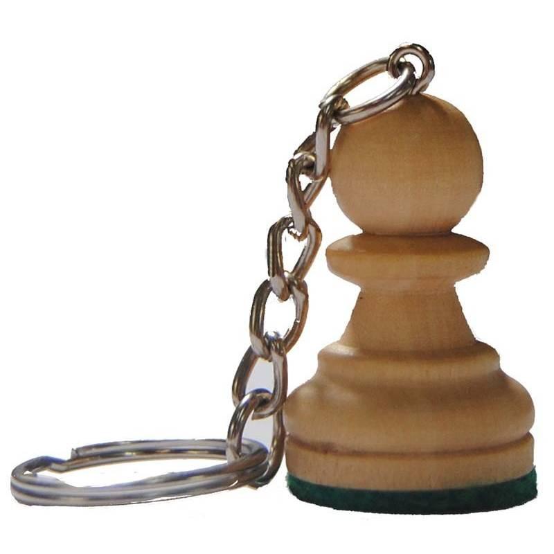 Llavero ajedrez de madera Peón