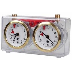 Reloj analógico transparente