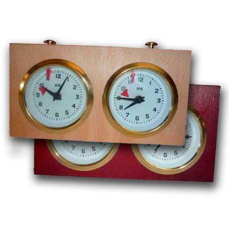 Analog BHB clock wooden chess