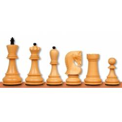 Chess wooden pieces Zagreb Acacia and Ebonised