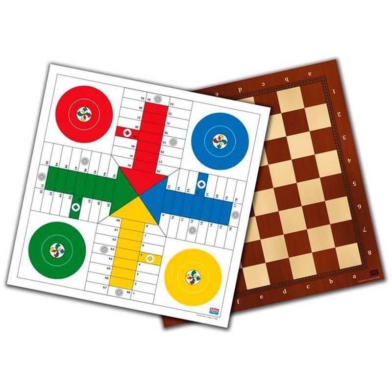 Tablero parchis-damas-ajedrez 40 cm.