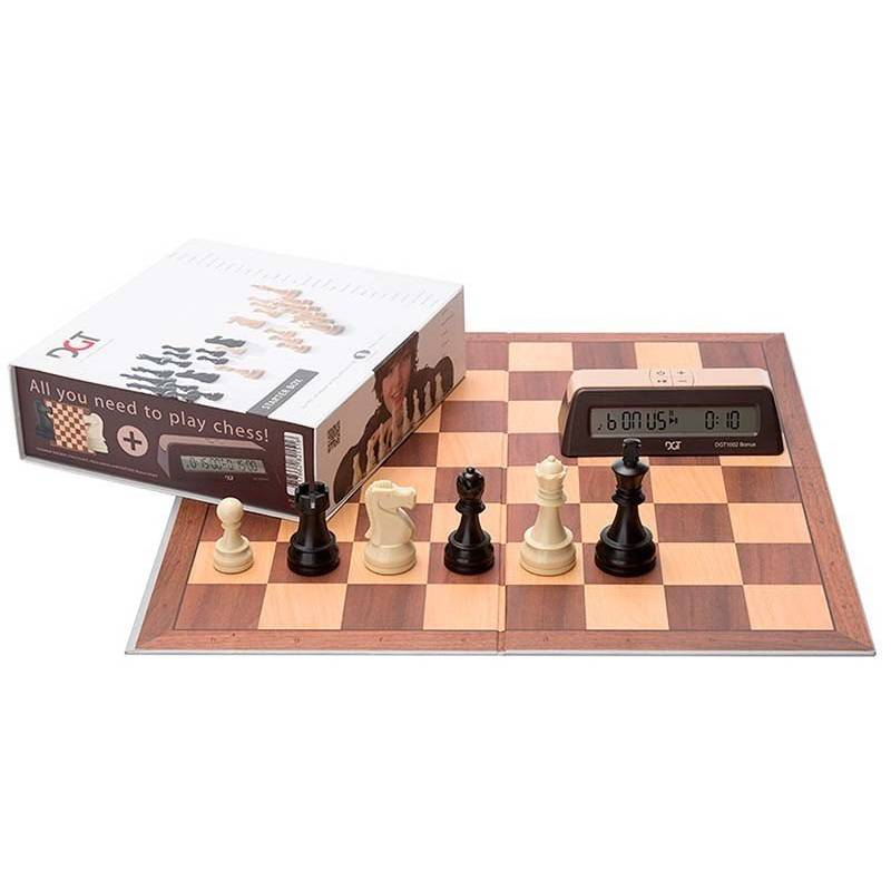 Chess DGT Chess Box Starter Gris (board and pieces)