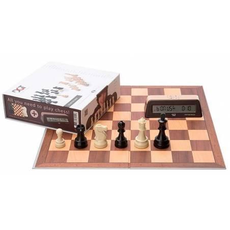 DGT Chess Starter Box Marrón (tablero, piezas y reloj)