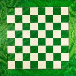 Chess board wooden Green De Luxe 50 cm. Rechapados Ferrer