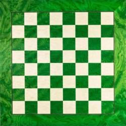 Tauler escacs fusta Verd De Luxe 50 cm. Rechapados Ferrer
